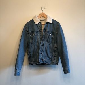 H&M Sherpa Denim Jacket